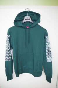 SUPREME ITALIA sz XL SWEATSHIRT JUMPER PULL ON  HOODIE COTTON SOLID GREEN SPORTS