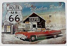 """Plaque Métal Tôlée Vintage ROUTE US 66 """"The Mother Road"""" 20 X 30 cm Neuf Emballé"""