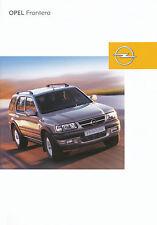 Opel Frontera Prospekt 9/02 brochure Autoprospekt Auto Pkw Geländewagen 2002