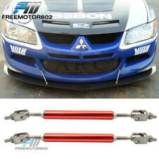 Ajustable Front Bumper Splitter Lip Support Rod Tie Bars 5.5-8 Inch Universal