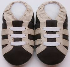 Minishoezoo boots brown 18-24 m soft sole leather kids shoes zoo slippers