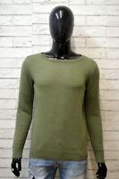 TOMMY HILFIGER Uomo Taglia M Maglione Cashmere Pullover Cardigan Sweater Felpa