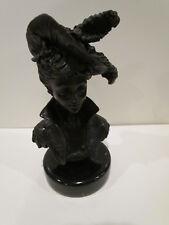 Bronze Sculpture Statue  Elegant Girl Bust Art Nouveau