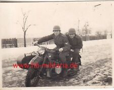 Foto Wehrmacht Motorrad BMW R12. Kradschützen.