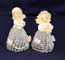 Precious Moments Spring Summer Belle Four Seasons Spun Glass Bell Figurines