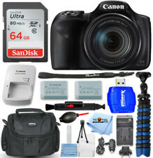 Canon PowerShot SX540 HS (Black) + EXT BATT + 64GB + Tripod Bundle