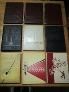 LOT OF 9 OWENSBORAN OWENSBORO RED DEVILS HIGH SCHOOL YEARBOOKS 1940 1941 1945