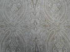 "Ralph Lauren in tessuto ""BIRCHWOOD Paisley"" 3.5 METRI (350cm) lichen-Misto Lino"