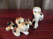 Cute Ceramic Orange Brown Dog Japan Figurines