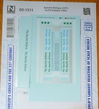 Microscale Decal N #60-1511 The Apache Railway (APA) ALCO Diesels 1998+