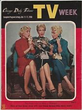 CHICAGO DAILY TRIBUNE REGIONAL TV WEEK BARBARA EDEN ON THE COVER OCT 11-17, 1958