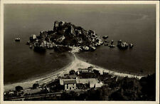 Taormina Italien Italia Sizilien AK ~1930 Isola Bella Insel Panorama Meer Mare