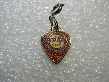 PIGEON FORGE,Hard Rock Cafe,Bracelet Guitar Charm Pearl Brown