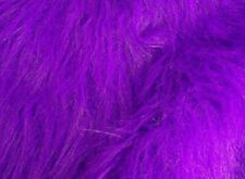 Luxury LONG hair pile Faux Fur Fabric Material - Various sizes & Colours