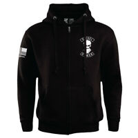 Diesel Power Gear Zipped Biker Hoodie Black