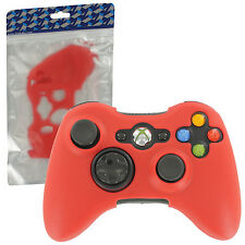 ZedLabz silicone case for Xbox 360 controller skin protector bumper cover - red
