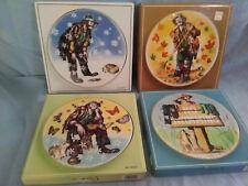Flambro- Emmett Kelly Jr- Collector Plates- Four Seasons- Set Of 4