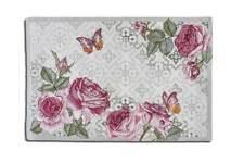 Sander Tischset Tischwäsche ROSES 32 x 48  cm Rosen Schmetterlinge