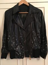 patrizia pepe Leather Jacket with studs