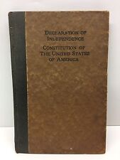 Declaration of Independence Constitution of the United States Antique Book