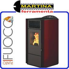STUFA A PELLET PUNTO FUOCO LORY 9 KW ROSSO SCARICO POSTER/SUPERIORE BY EVA CALOR