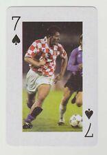 Football World Cup 2006 Playing Card single - Davor Suker - Arsenal - Croatia