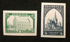 stamps Norge Norway Norvege reproduction 1914 Haakonshallen Domkirke