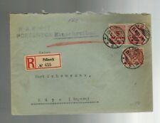 1923 Poessneck Pößneck Kups Bayern Germany Registered Inflation Cover