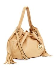 MICHAEL Michael Kors Tan Marina Leather Large Drawstring Shoulder Tote w Dustbag