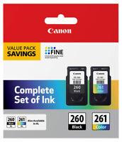 Genuine Canon PG260 CL261 Black Color Ink 260 261 PIXMA TS5320 OEM 3725C006