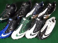 Used Nike Air Zoom Vapor Carbon Fly TD Football Cleats Black White Blue Green