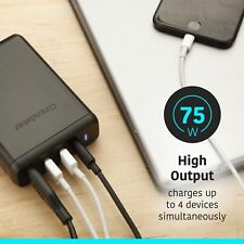 Charger 75W 4 Port Quick Charge 3.0 Desktop Charging Station Note 8 IPhone X NEW