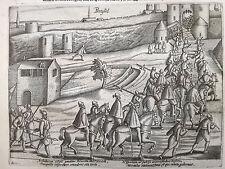 Baudartius Bor Dutch Revolt Rare Engraving Brussels Berlgium (3) - 1621