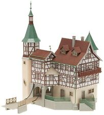 NEW ! HO Faller Hunting Lodge / Castle with Drawbridge Building Kit # 130385