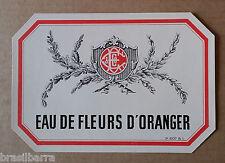 5 ETIQUETTES PARFUM : EAU DE FLEURS D'ORANGER Vers 1900-10
