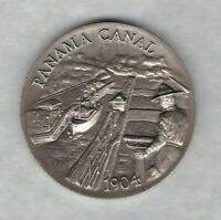 PANAMA CANAL1904 STERLING SILVER MEDAL IN MINT CONDITION
