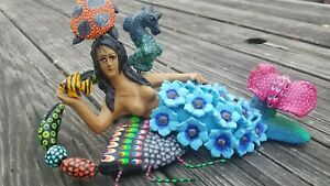SIGNED Mermaid, Sirena, Concepcion Aguilar, sister of Josefina, Oaxaca, Mexico