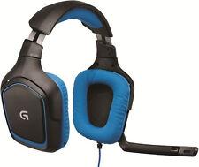 Logitech G430 Stereo Gaming Headset mit Kopfbügel USB-Anschluss schwarz/blau