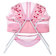 Bassinet Karley Dream On Me Rose Lightweight no tool Assembly Quick Folding New