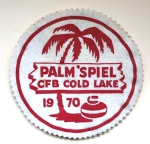 "Vintage Curling Patch - Palm ""Spiel RCAF Cold Lake 1970"