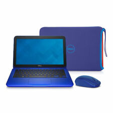 "Dell Inspiron i3162-0003BLU 11.6"" HD Laptop + Blue Mouse + Carrying Case Sleeve"
