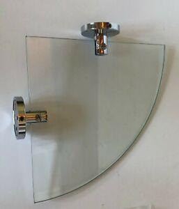 Smedbo NK 375 Glass Corner Shelf Polished Chrome(on solid brass) Brackets
