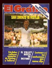SOCCER RIVER PLATE 0 vs FLAMENGO 3 LIBERTADORES CUP 1982 - El Grafico magazine