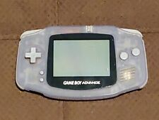 GameBoy Advance Glacier Clear *Tested* *Missing Back* GBA Console