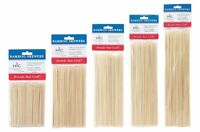"4""-6""-8""-10""-12"" Bamboo Wood Skewers 100 pk - Barbecue Wooden Shish Kabob Sticks"