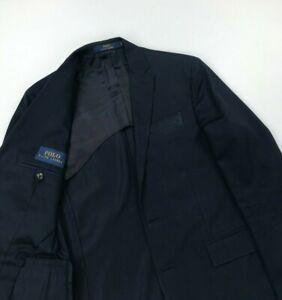 Men's Navy Blue Polo Ralph Lauren Blazer 40R Cotton 3 Button Unconstructed B