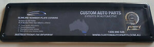 Australian Slimline Number Plate Clear Covers - 100 mm x 372 mm