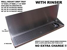 """Draft Beer Tower Wall Mt Drip Tray 30""""  Long With RINSER  DTWM30SS-8-R"""