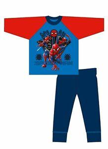 Kids Spiderman Pyjamas Pjs (Super Hero) Boys 100% Cotton Size 4-10 Years