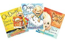 Diaper David: David Smells! Oops & Oh David by David Shannon (3 Board Book Set)